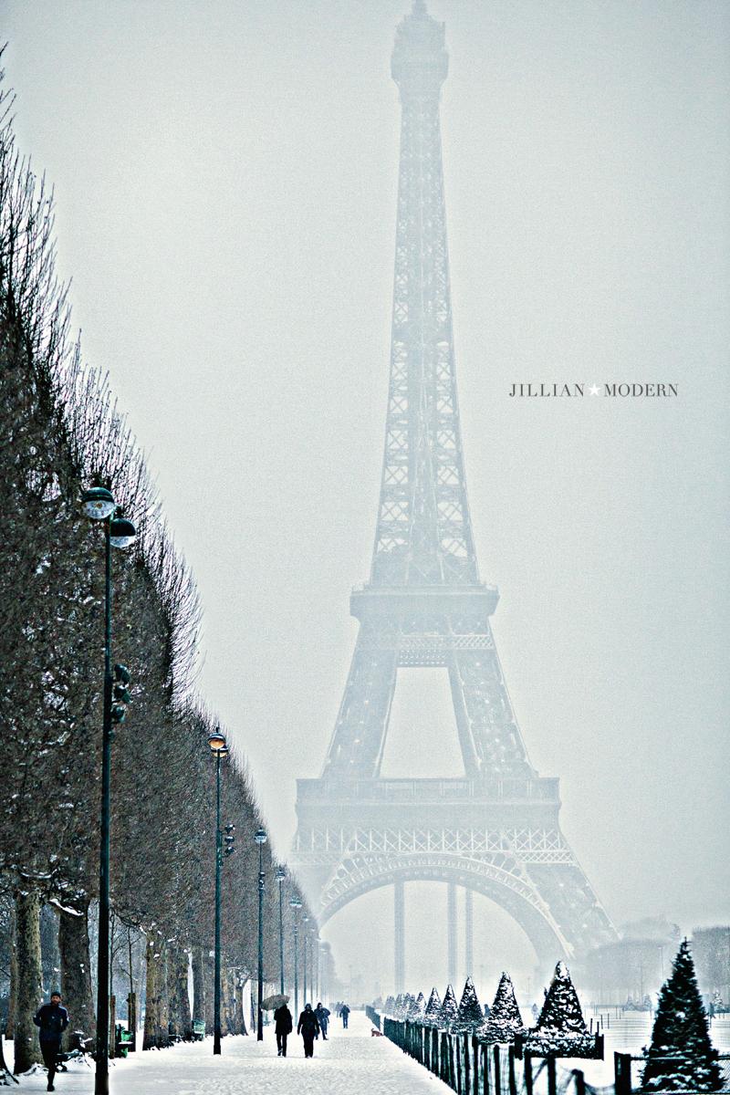 Paris in the Snow by Jillian Modern Photography