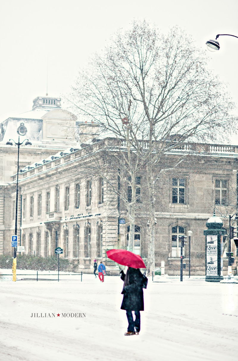 Paris in the Snow by Jillian Modern Photography
