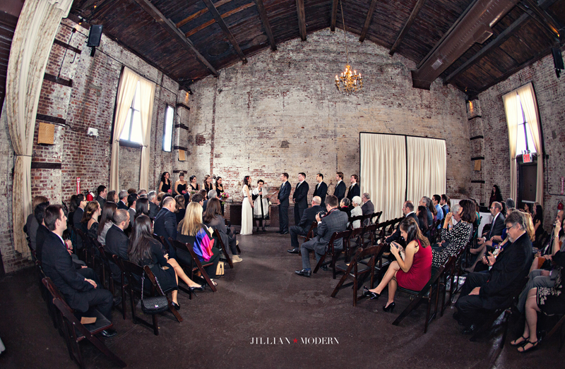 Green Building Wedding | Jillian Modern Photography